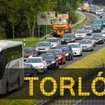 Három kamion ütközött az M1-esen Győrnél