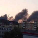 Oldószeres hulladék lángolt Kazincbarcikán