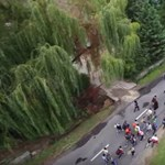 Drónvideó: Az 1-es úton halad az elszántak menete