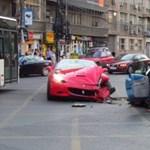 Citroënnel ütközött egy Ferrari California Bukarestben – fotók