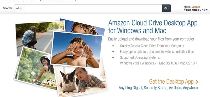 Letölthető az Amazon Cloud Drive kliens Windowsra és Macre