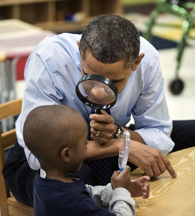 Barack Obama, bölcsődébe látogatott