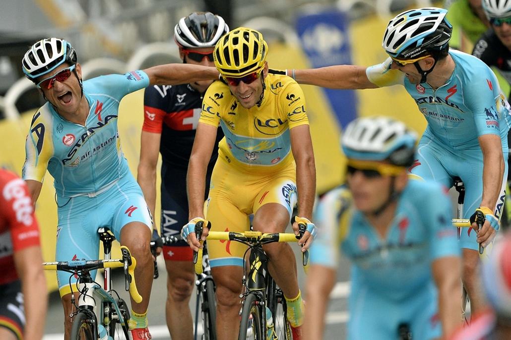 afp.14.07.27. - Párizs, Franciaország: 101. Tour de France 2014 - Vincenzo Nibali