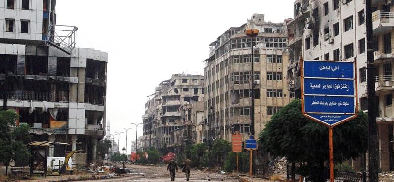 Visszatértek az emberek a rommá lőtt szíriai városba - fotók
