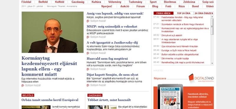 Eljárás indult a Népszava Online ellen egy komment miatt
