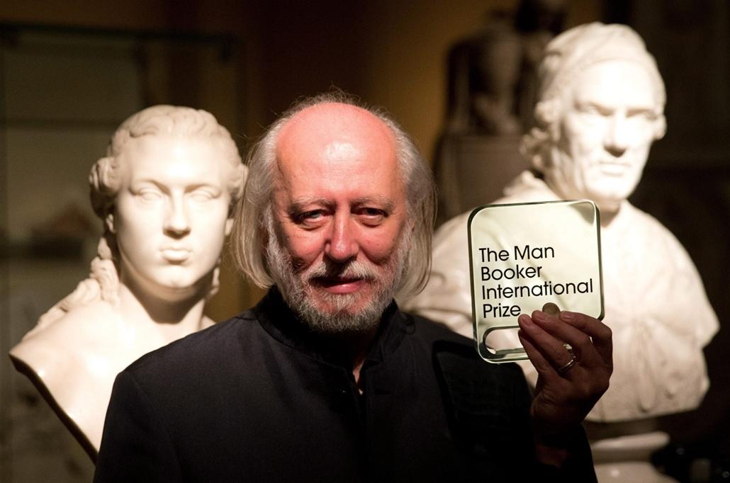 AP_! - júni.3-ig_! - 15.05.19. - London, Egyesült Királyság: Krasznahorkai László az idei Nemzetközi Man Booker-díjas