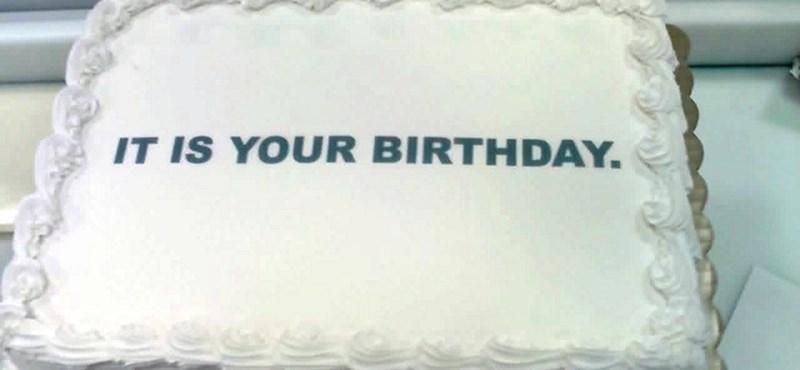 Szülinapi torta: a kevesebb néha több