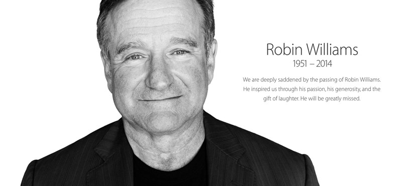 Így búcsúzik Robin Williamstől az Apple