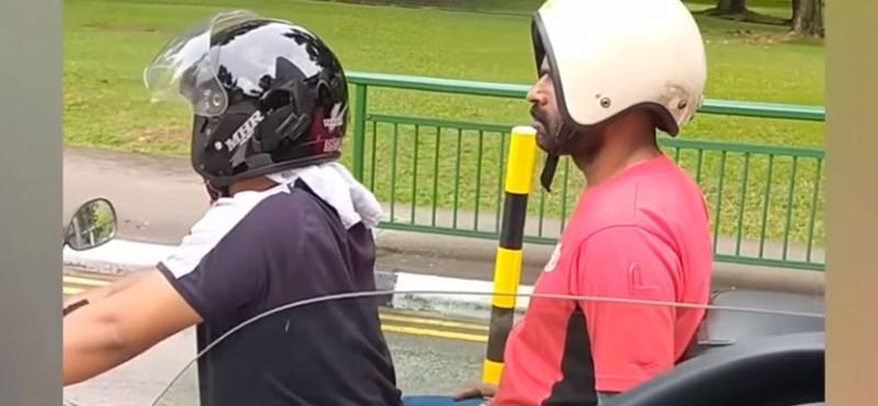 Videó: Van, akinek még a bukósisakot is sikerül rossz irányba felvennie