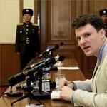 Most már tényleg nagy bajban van az Észak-Koreában letartóztatott amerikai diák – fotók