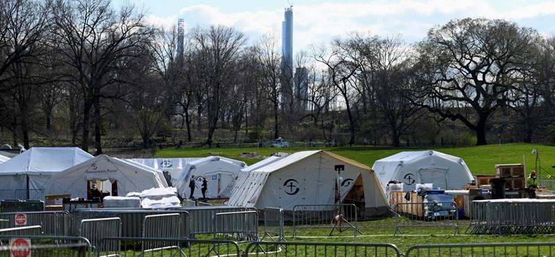 Leszerelték a tábori kórházakat New Yorkban