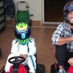 Az év legcukibb versenyén Massa kisfiától kapott ki Daniel Ricciardo – videó