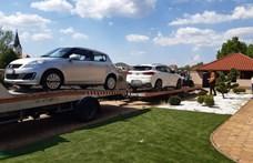 Fotók: autókat, quadokat és kondigépeket foglaltak le a drogkereskedéssel gyanúsított bandától