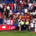 Pánik a stadionban, több néző megsérült a Sevilla meccsén - videó