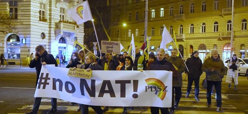 Tüntetett a PDSZ a NAT és a szakképzési törvény ellen