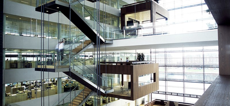 Egyetlen nagy, átlátszó kockában működik a koppenhágai jelzáloghitelbank