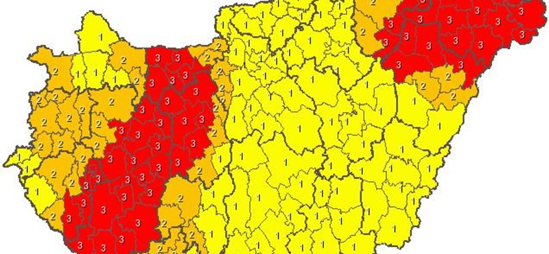 Piros riasztás: újabb 5-10 centi hó eshet estig
