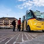 Vezető nélküli minibuszokat tesztelnek egy svájci városban – fotók