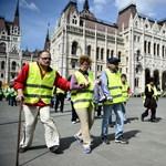 Több százan tüntetnek a Parlamentnél