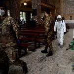 Olaszországban ismét kétszáz fölött van a napi halottak száma