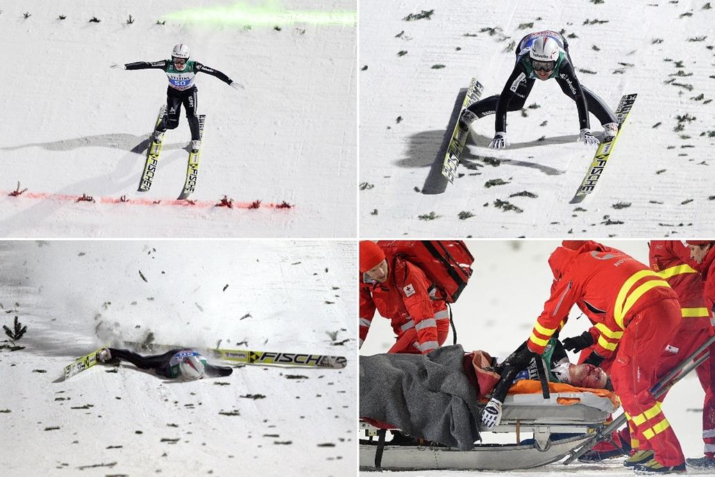 afp.15.01.06. - Bischofshofen, Ausztria: Simon Ammann a négysáncverseny utolsó állomásán