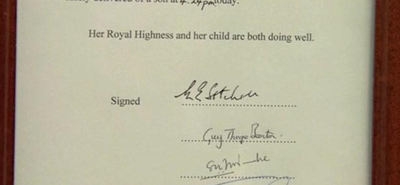 Kisfiút szült Katalin hercegnő