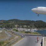 Szinte a hajunkat súrolják a görög Szkiathoszra leszálló gépek - videó