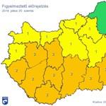 Térkép: Özönvízszerű eső, heves viharok miatt narancssárgában az ország