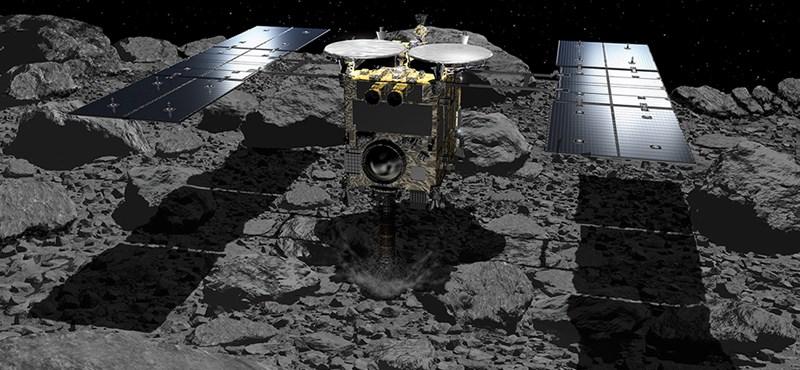 """Bevetette a """"porszívóját"""" a Földtől 280 millió km-re száguldó aszteroidán a Hajabusza-2 űrszonda"""