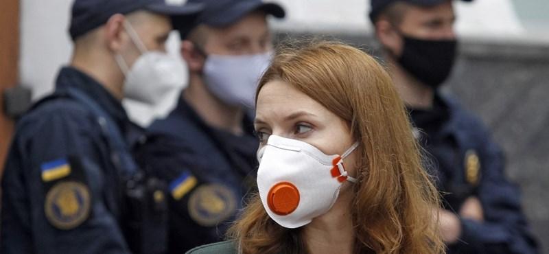 Ukrajnában már a járvány második hulláma fertőz