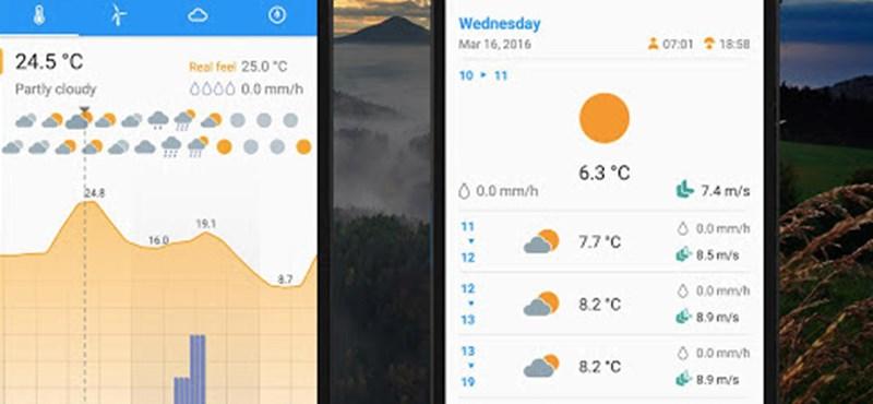 Ritka, hogy ilyen jó egy ingyenes időjárás-alkalmazás
