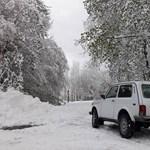 Ilyen volt a 90 centis hó Bánkúton