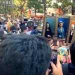 Ennél zseniálisabb a héten már nem lesz: két lábon járó festményeknek öltöztek japán diákok