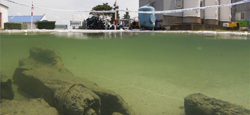 Víz alá nyomták, hogy megmentsék a szenzációs Zrínyi-leletet – fotó