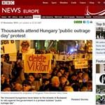 Magyar tüntetőkkel vannak tele a külföldi lapok