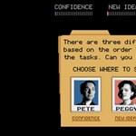 Interaktív Reklámőrültek játék, mely a konzolok hősnapjait idézi