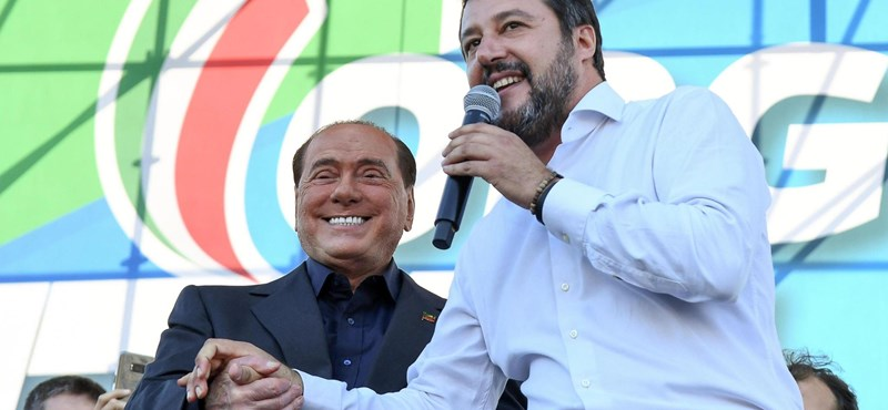 Orbánt éltette Sorossal szemben Matteo Salvini Rómában