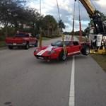 Nagyot esett a Ford GT, de jól bírta a strapát - fotó