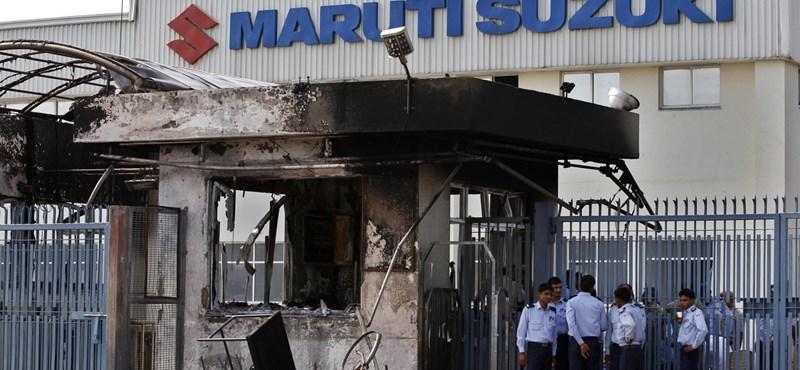 Súlyos összecsapások voltak a Suzuki Maruti egyik indiai gyárában