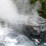 Menet közben gyulladt ki egy BMW az M7-es balatoni lehajtójánál