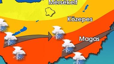 Az ország középső és déli részét tarolhatja le a vihar