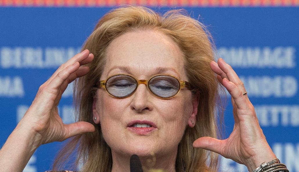 afp. 66. Berlini Nemzetközi Filmfesztiválon, Berlinale 2016 -US actress and jury president of the Berlinale Film Festival Meryl Streep attends a press conference in Berlin on February 11, 2016.