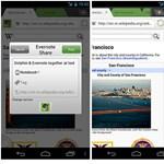Evernote és Skitch kiegészítés a Dolphin böngészőhöz Androidra