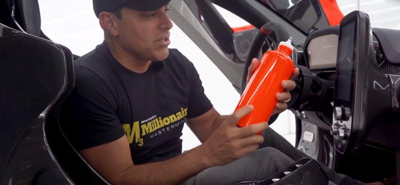 Rendelne egy vizes palackot a McLaren sportkocsijába? Rendben, 2 millió forint lesz