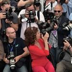Fotó: Sophia Loren fotósnak állt Cannes-ban