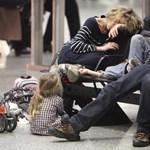Több száz légi járatot töröltek Németországban