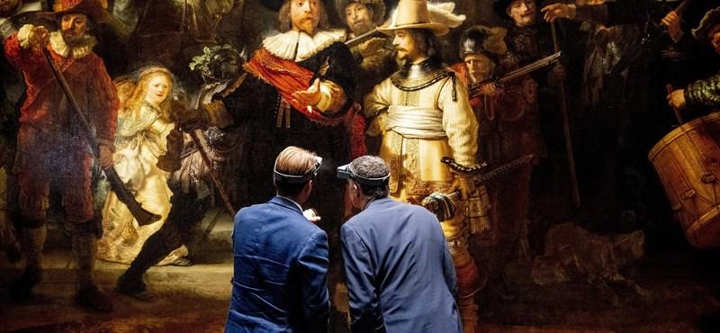Élőben nézheti, ahogy Rembrandt mesterművét restaurálják
