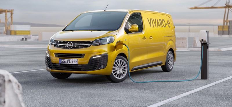 Az Opel is piacra dobja a maga elektromos furgonját