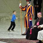Váratlan vendég okozott derültséget a pápai audiencián – videó