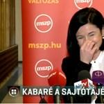Szétnevetett sajtótájékoztató: megszólalt Kunhalmi Ágnes